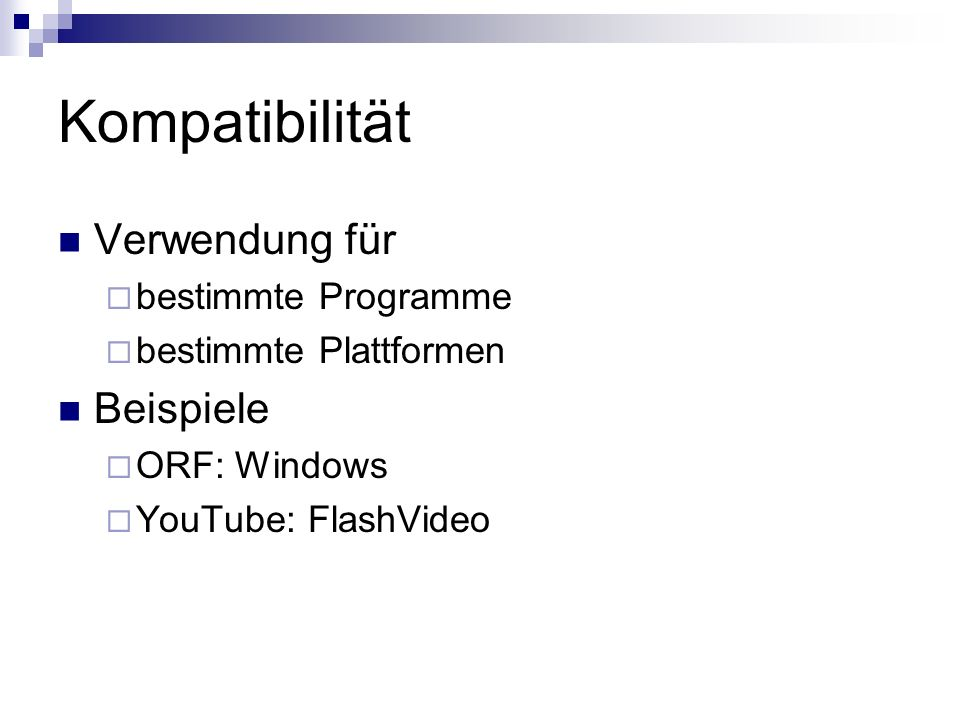 Kompatibilität Verwendung für Beispiele bestimmte Programme