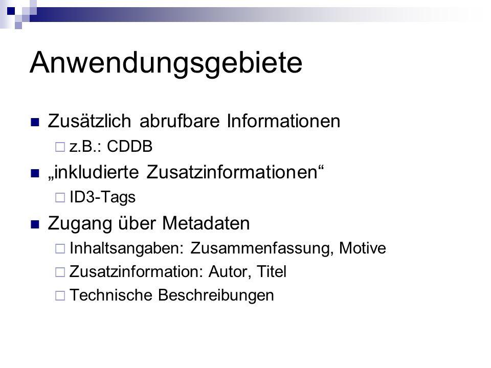 Anwendungsgebiete Zusätzlich abrufbare Informationen