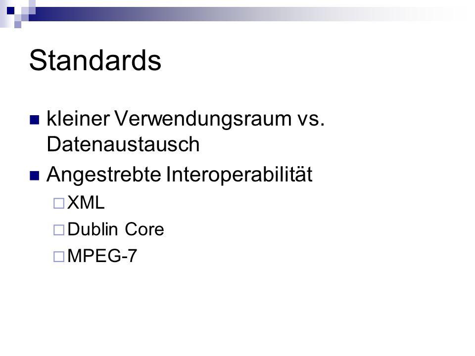 Standards kleiner Verwendungsraum vs. Datenaustausch