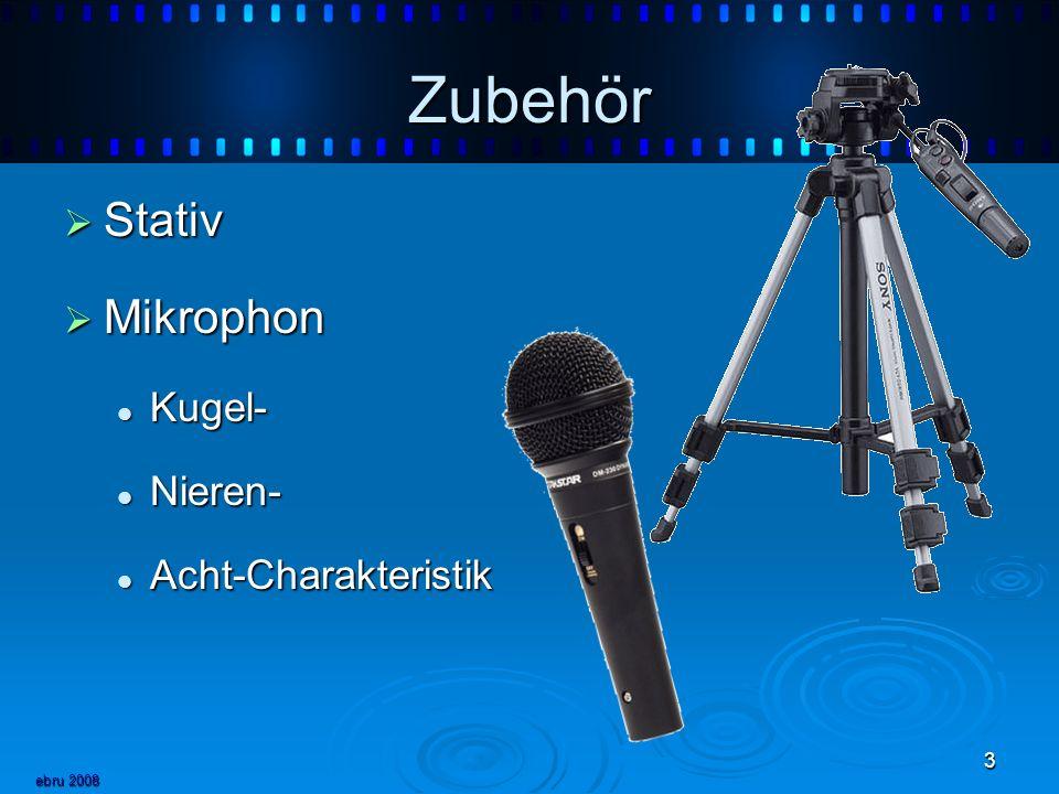 Zubehör Stativ Mikrophon Kugel- Nieren- Acht-Charakteristik ebru 2008