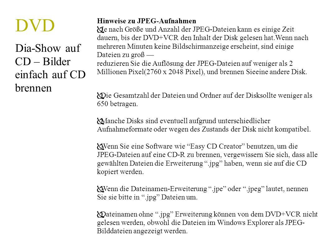 DVD Dia-Show auf CD – Bilder einfach auf CD brennen
