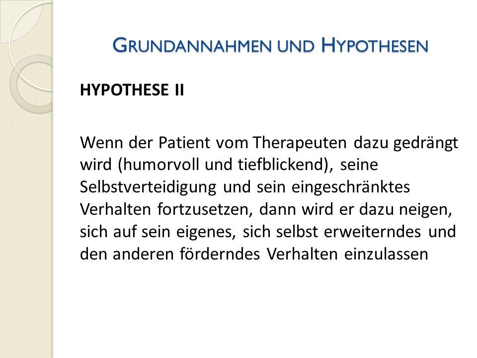 Grundannahmen und Hypothesen