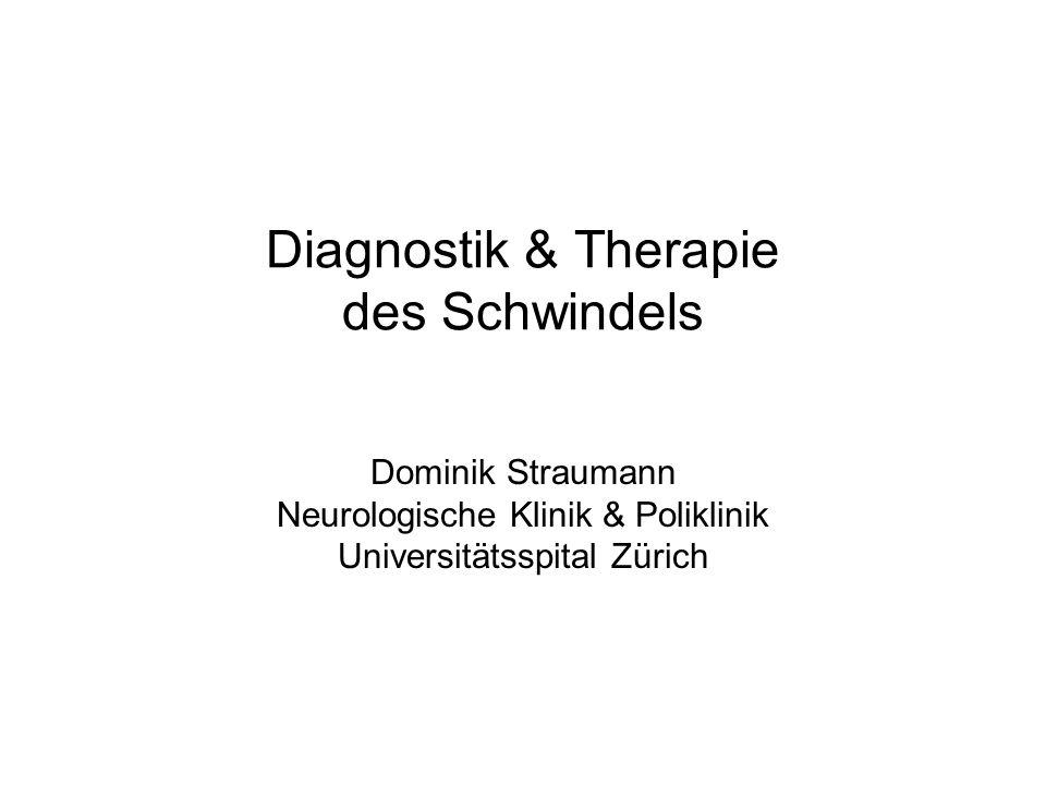 Diagnostik & Therapie des Schwindels