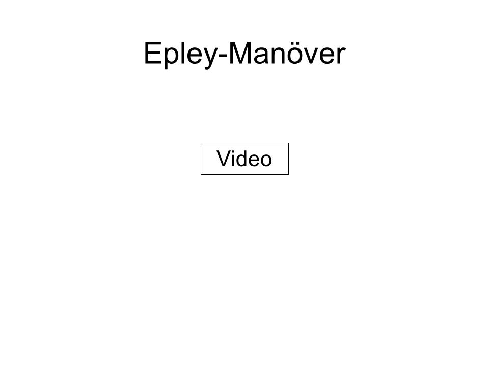 Epley-Manöver Video