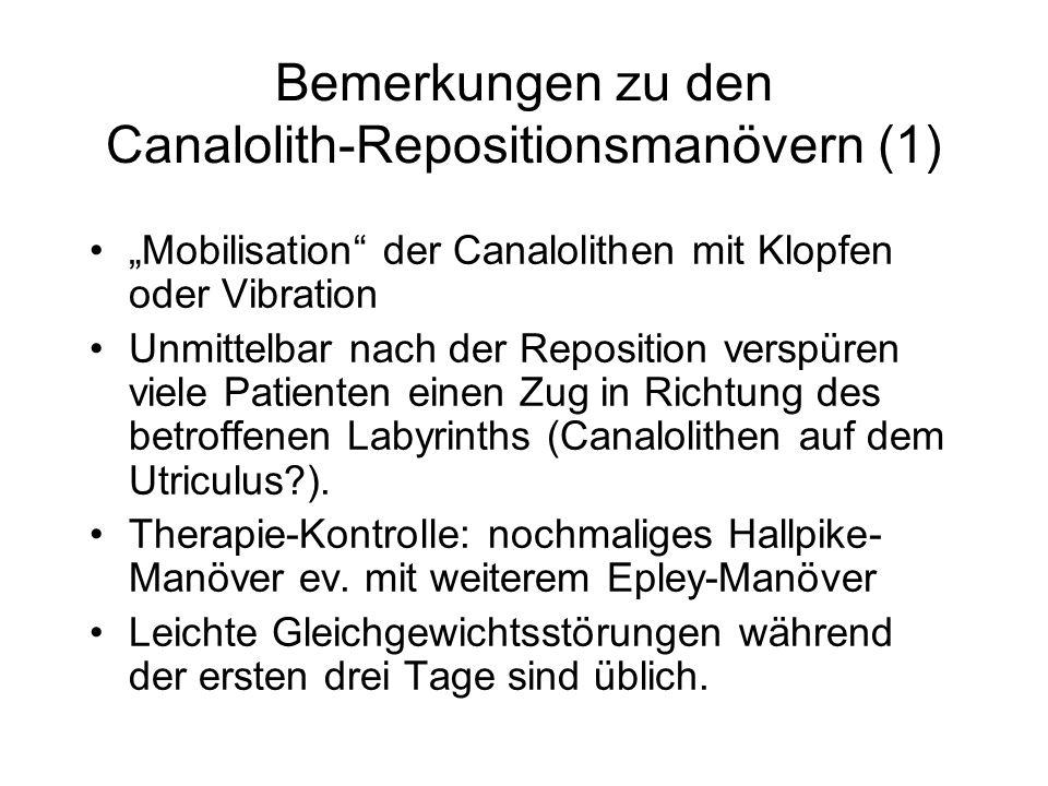 Bemerkungen zu den Canalolith-Repositionsmanövern (1)