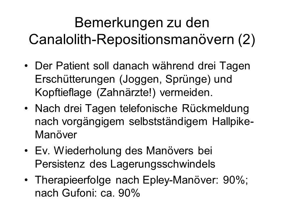 Bemerkungen zu den Canalolith-Repositionsmanövern (2)