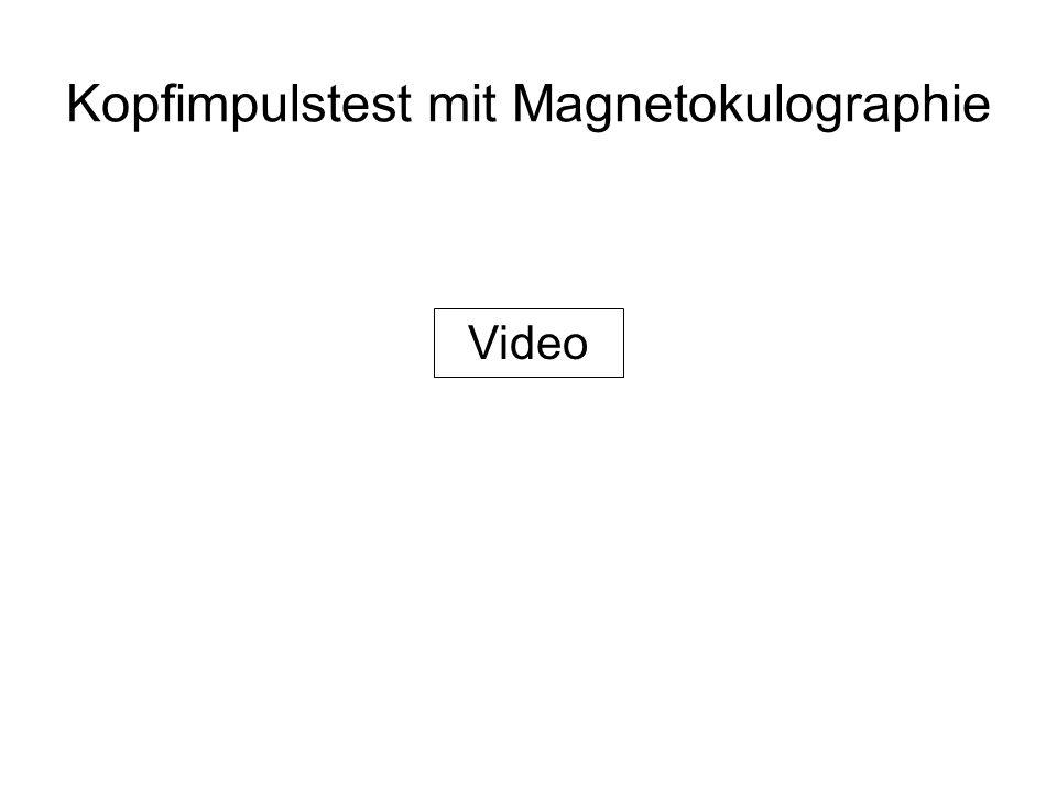 Kopfimpulstest mit Magnetokulographie