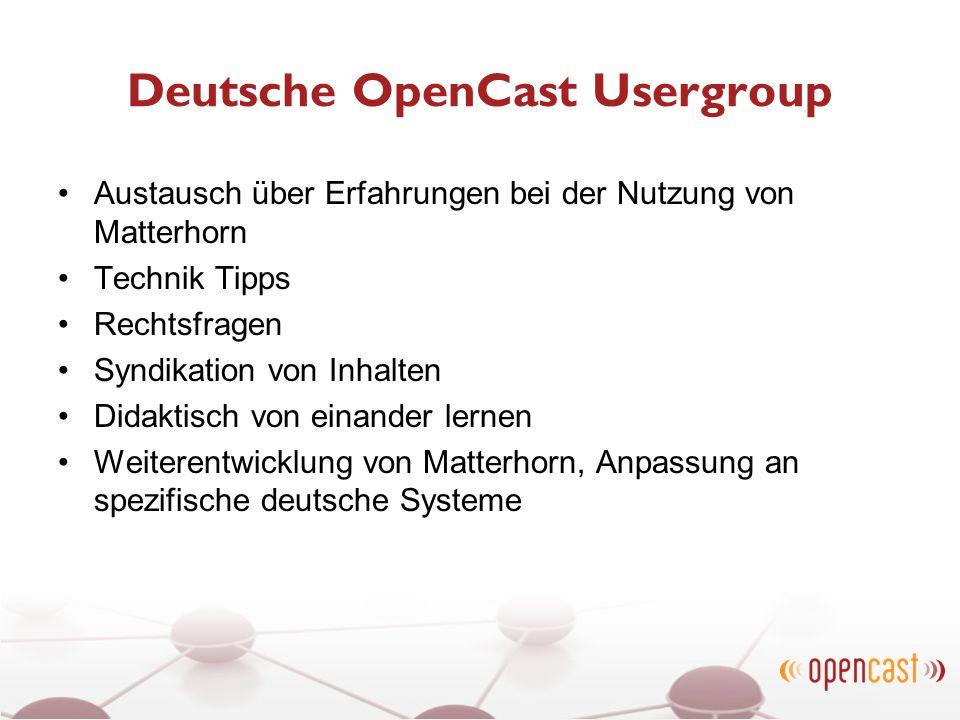Deutsche OpenCast Usergroup