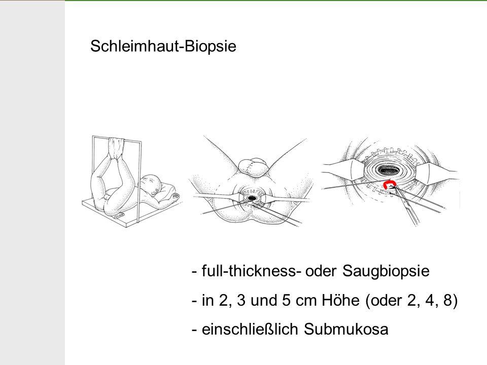Schleimhaut-Biopsie full-thickness- oder Saugbiopsie.