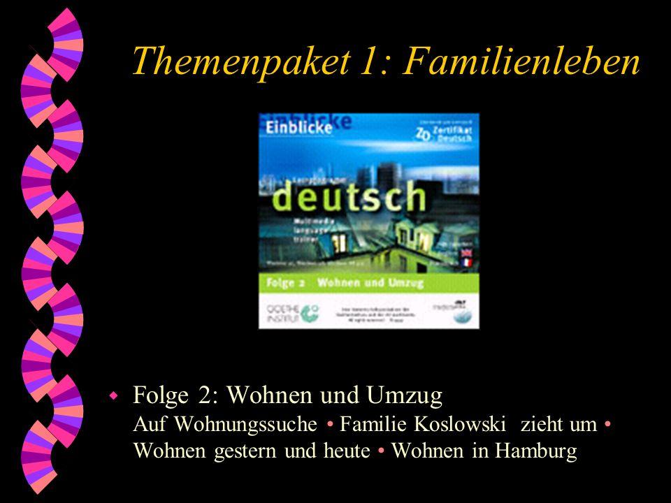 Themenpaket 1: Familienleben