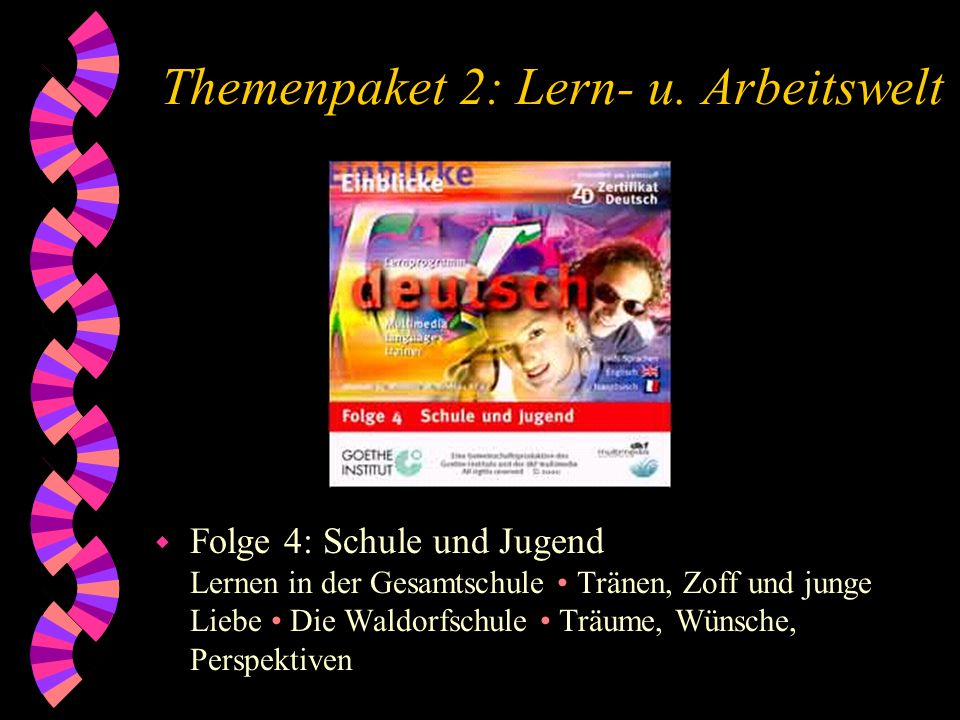 Themenpaket 2: Lern- u. Arbeitswelt