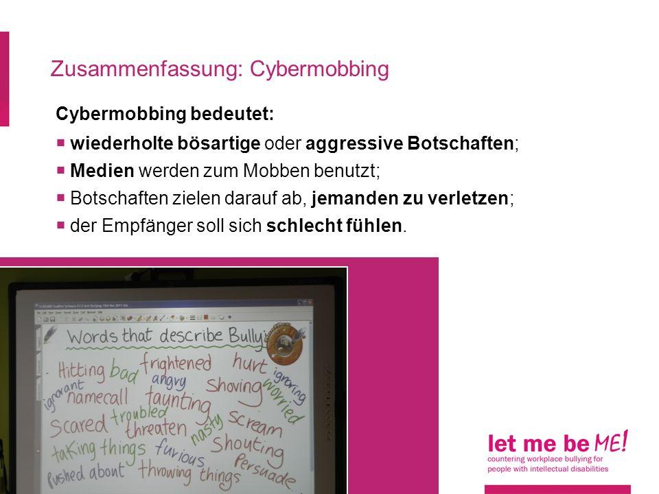Zusammenfassung: Cybermobbing