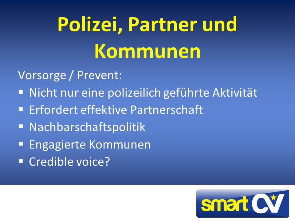 Polizei, Partner und Kommunen