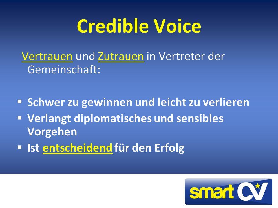 Credible Voice Schwer zu gewinnen und leicht zu verlieren