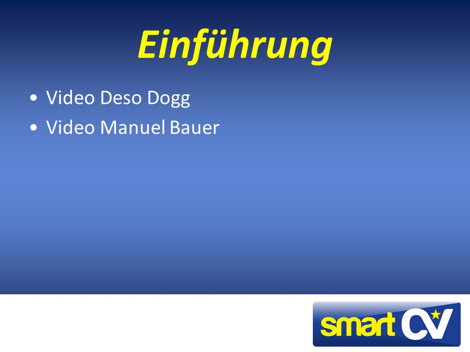 Einführung Video Deso Dogg Video Manuel Bauer
