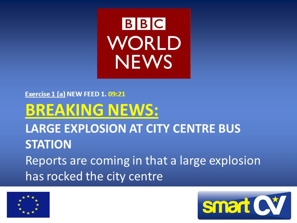 You suddenly hear this breaking news…