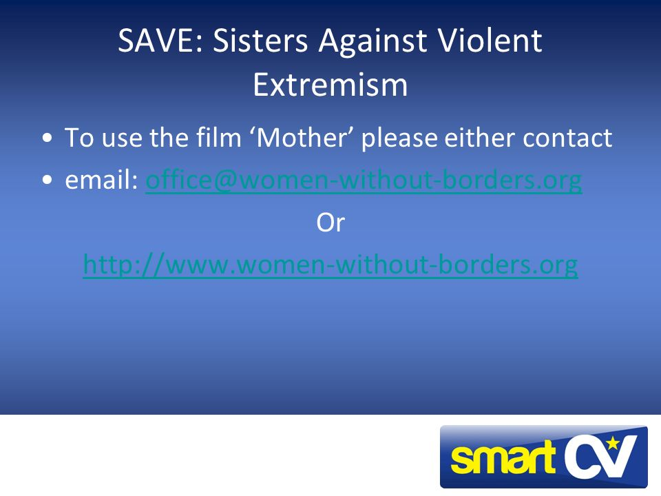 SAVE: Sisters Against Violent Extremism
