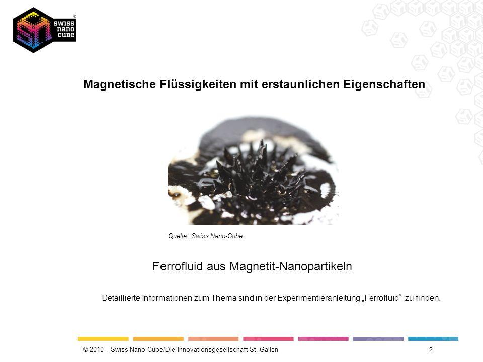 Magnetische Flüssigkeiten mit erstaunlichen Eigenschaften