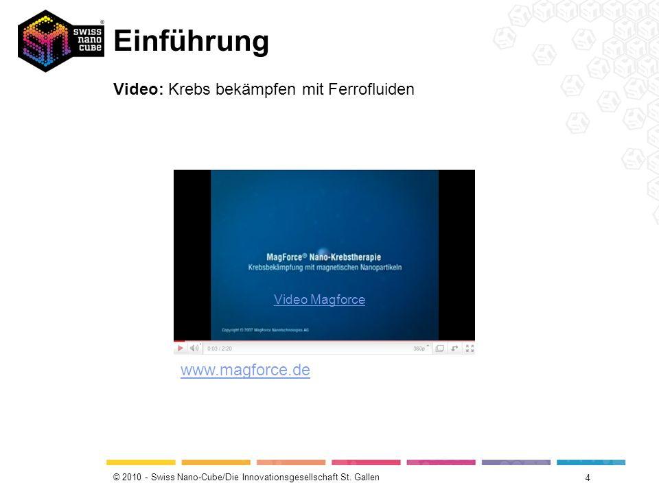 Einführung Video: Krebs bekämpfen mit Ferrofluiden www.magforce.de