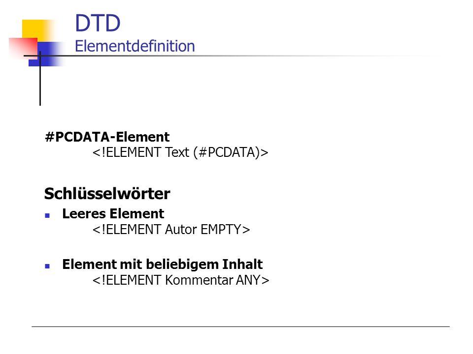 DTD Elementdefinition
