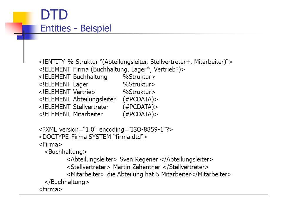 DTD Entities - Beispiel