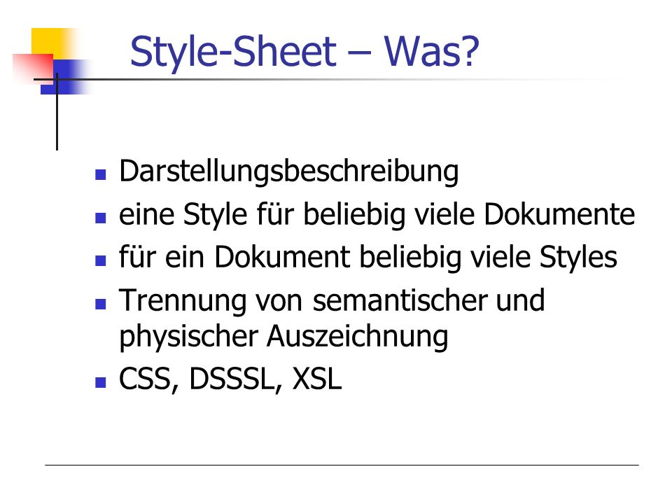 Style-Sheet – Was Darstellungsbeschreibung