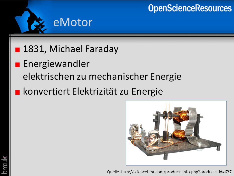 eMotor 1831, Michael Faraday