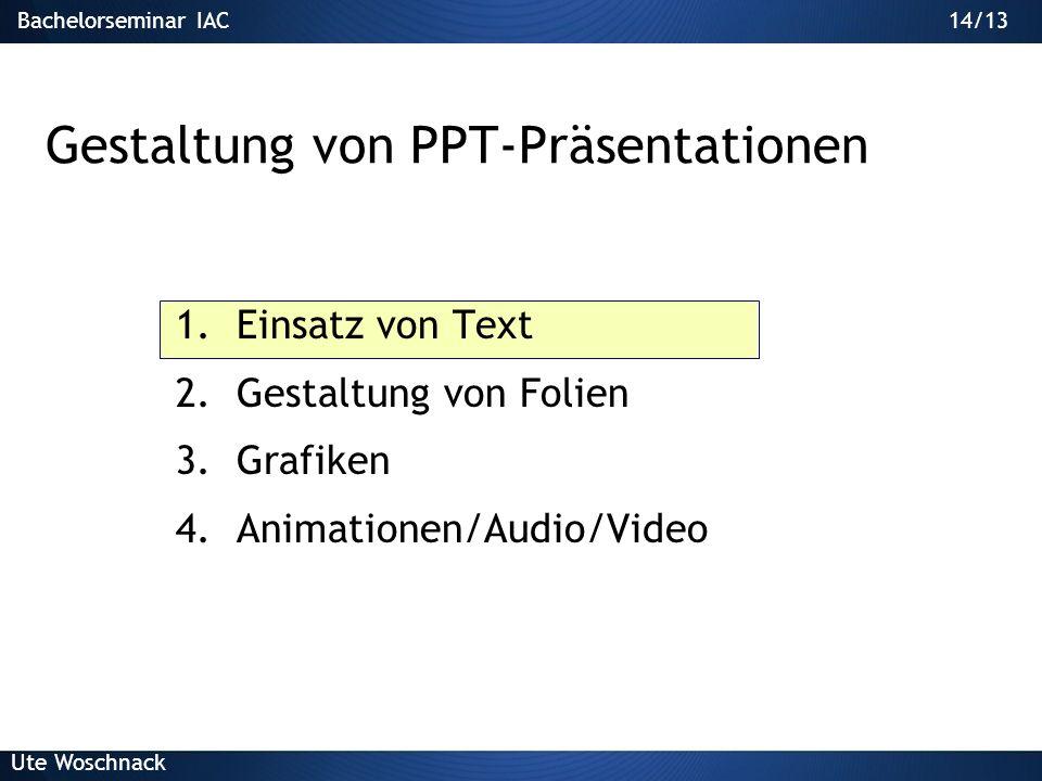 Gestaltung von PPT-Präsentationen