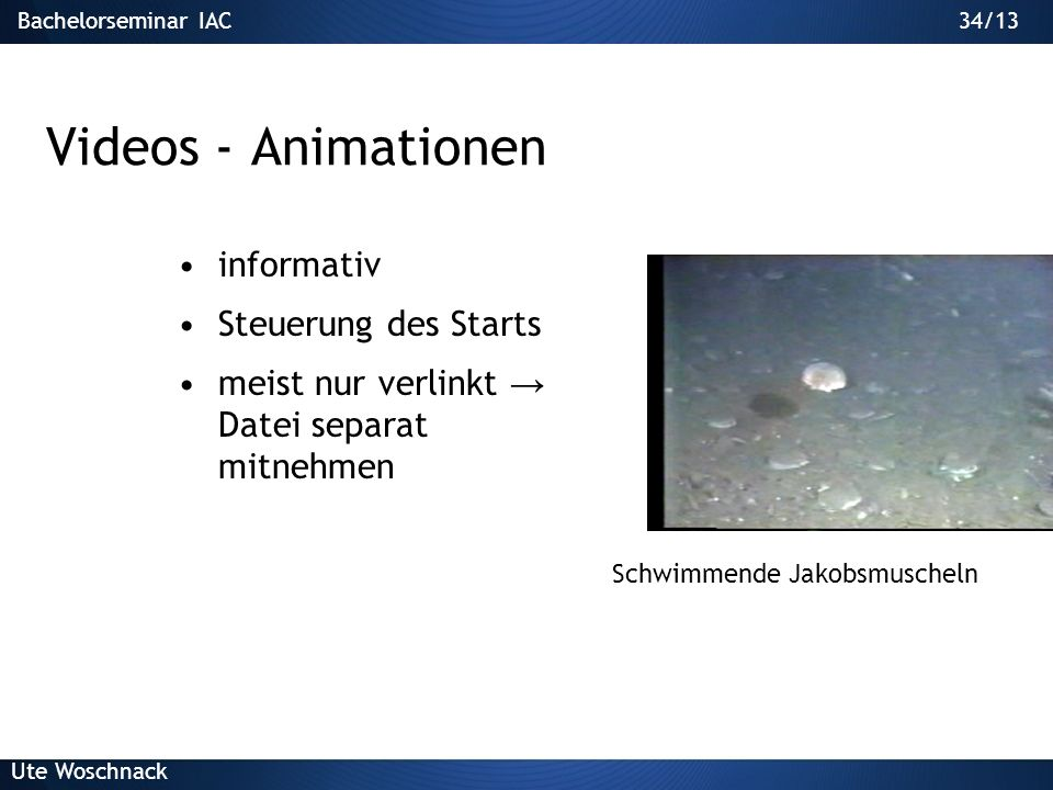 Videos - Animationen informativ Steuerung des Starts