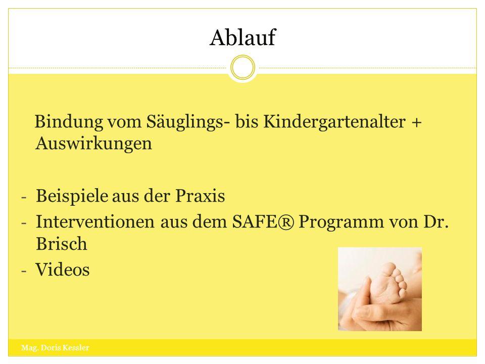 Ablauf Bindung vom Säuglings- bis Kindergartenalter + Auswirkungen