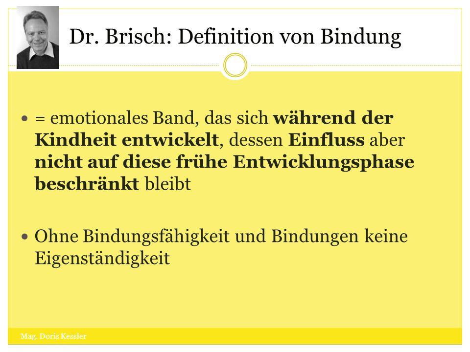 Dr. Brisch: Definition von Bindung