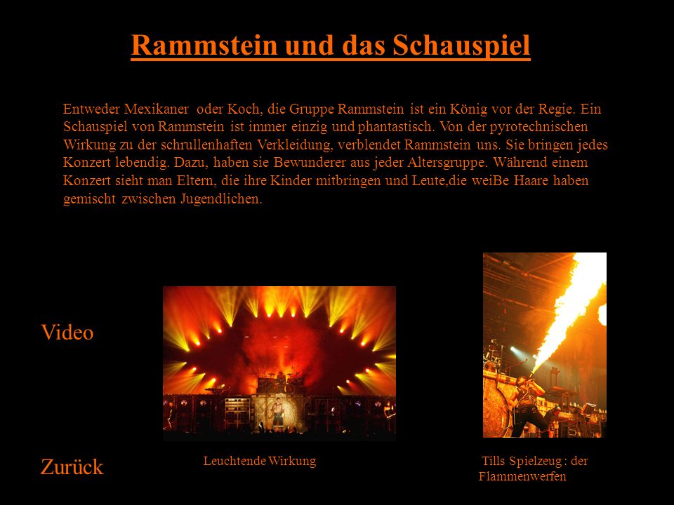 Rammstein und das Schauspiel