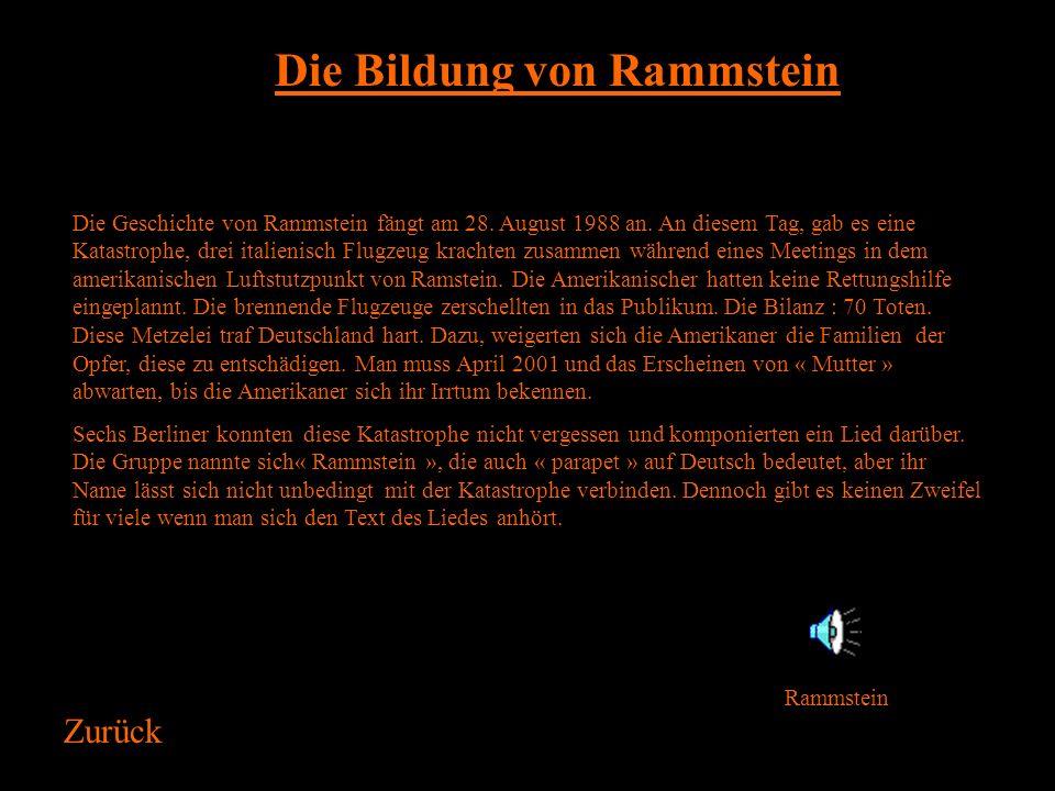 Die Bildung von Rammstein