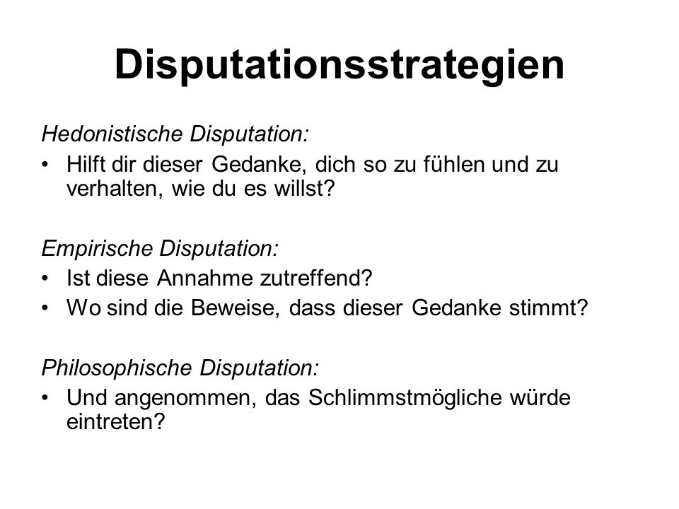 Disputationsstrategien