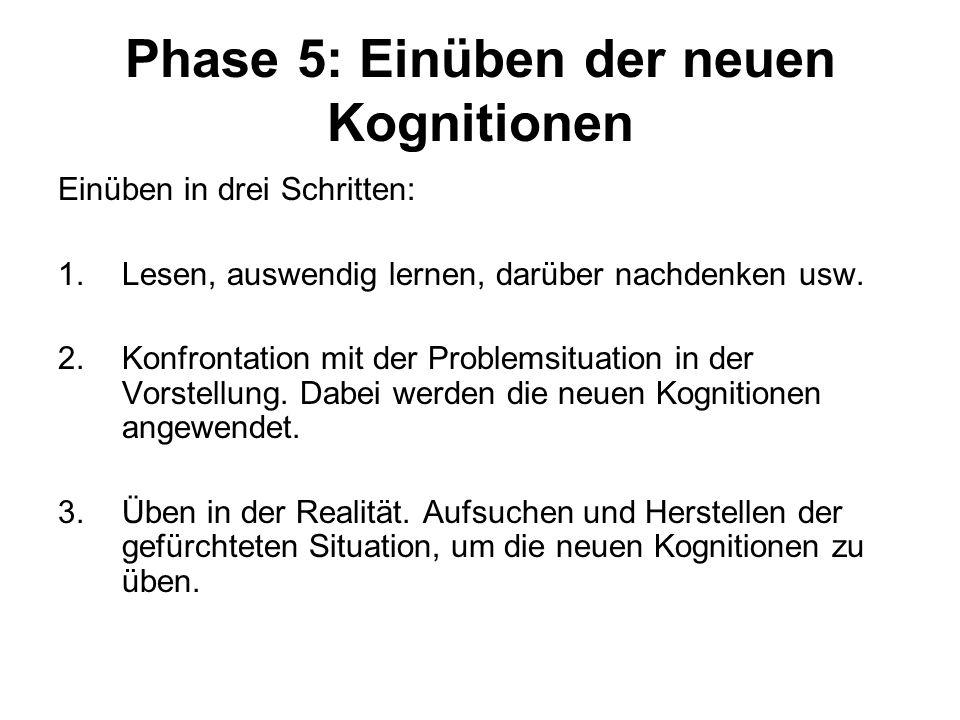 Phase 5: Einüben der neuen Kognitionen