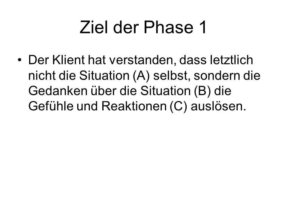Ziel der Phase 1