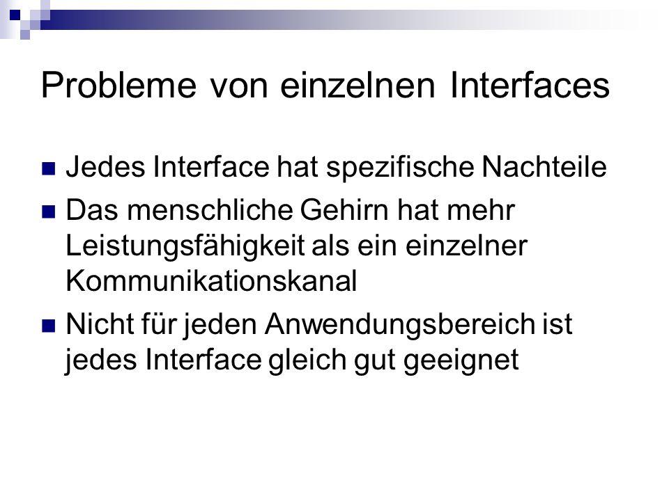 Probleme von einzelnen Interfaces