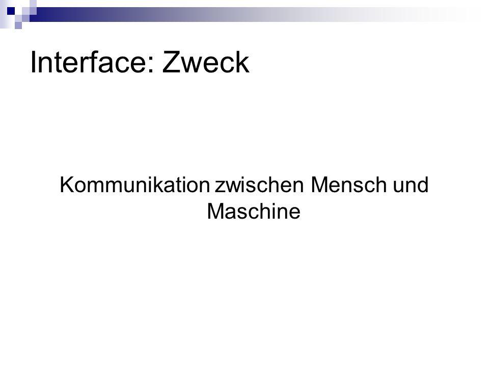 Kommunikation zwischen Mensch und Maschine