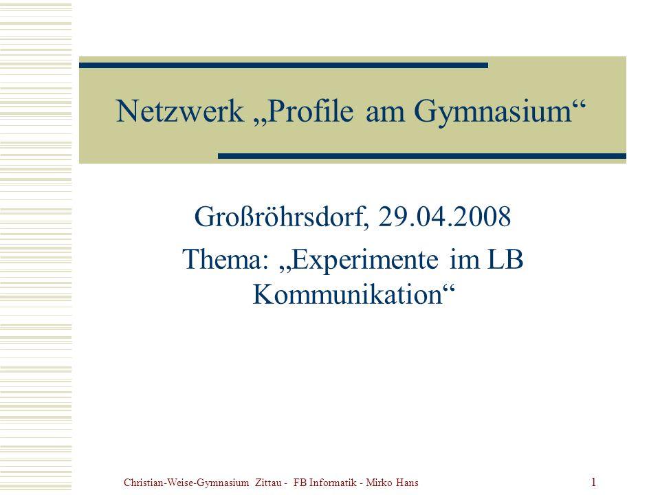 """Netzwerk """"Profile am Gymnasium"""