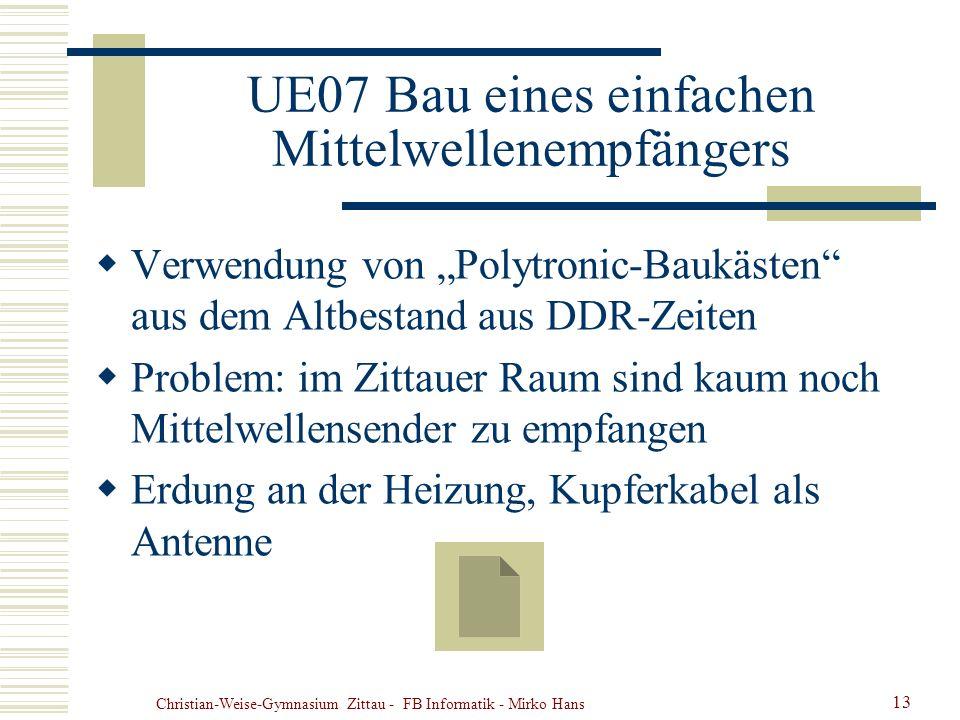 UE07 Bau eines einfachen Mittelwellenempfängers