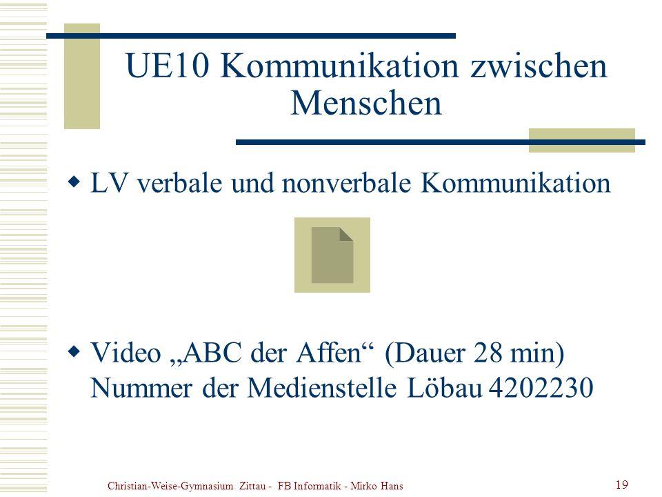 UE10 Kommunikation zwischen Menschen