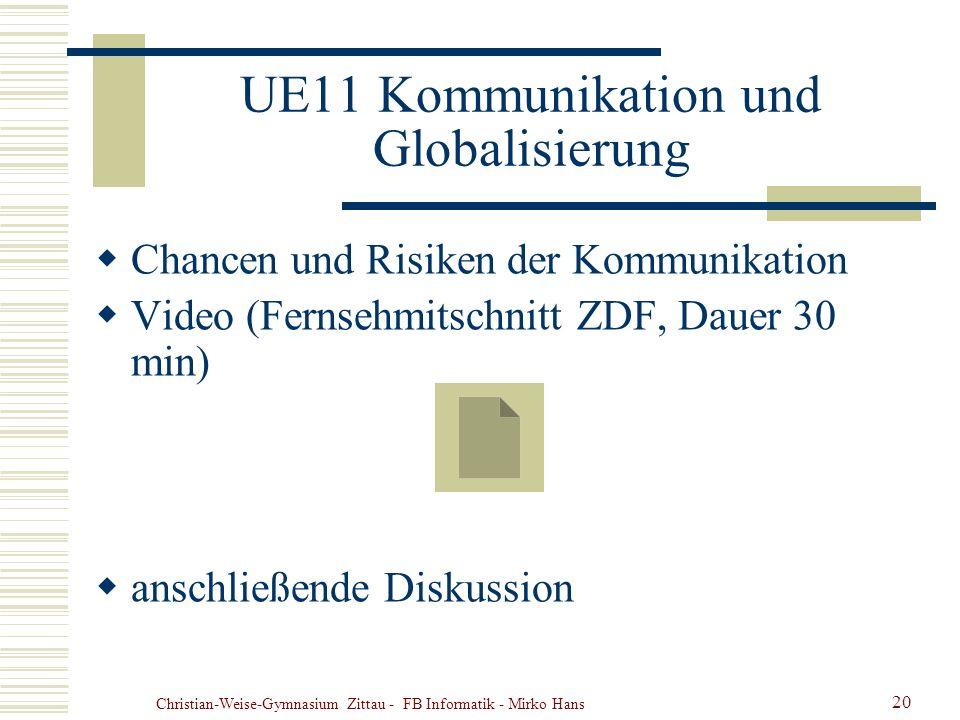 UE11 Kommunikation und Globalisierung