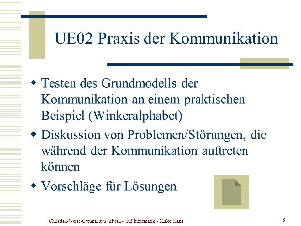 UE02 Praxis der Kommunikation