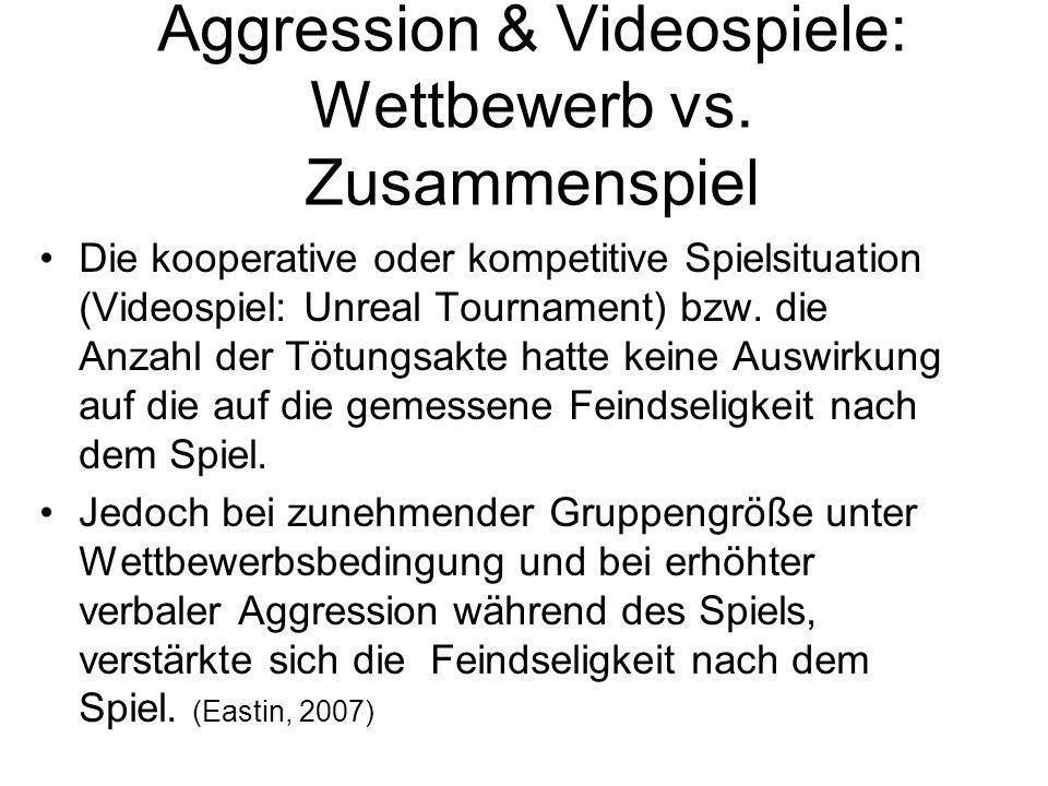 Aggression & Videospiele: Wettbewerb vs. Zusammenspiel