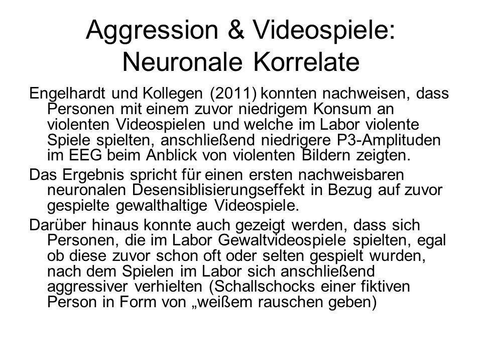 Aggression & Videospiele: Neuronale Korrelate