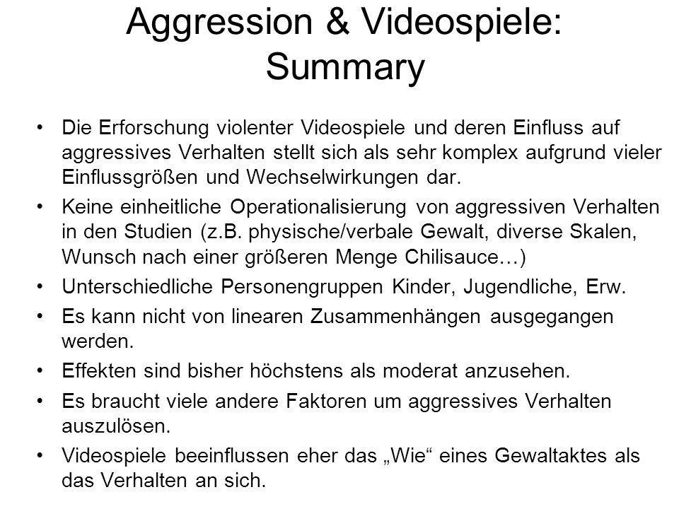 Aggression & Videospiele: Summary