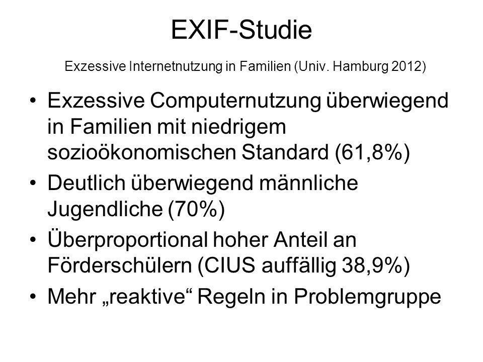 EXIF-Studie Exzessive Internetnutzung in Familien (Univ. Hamburg 2012)