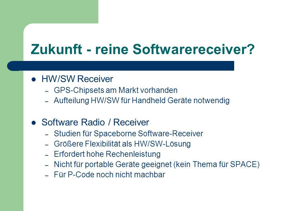 Zukunft - reine Softwarereceiver