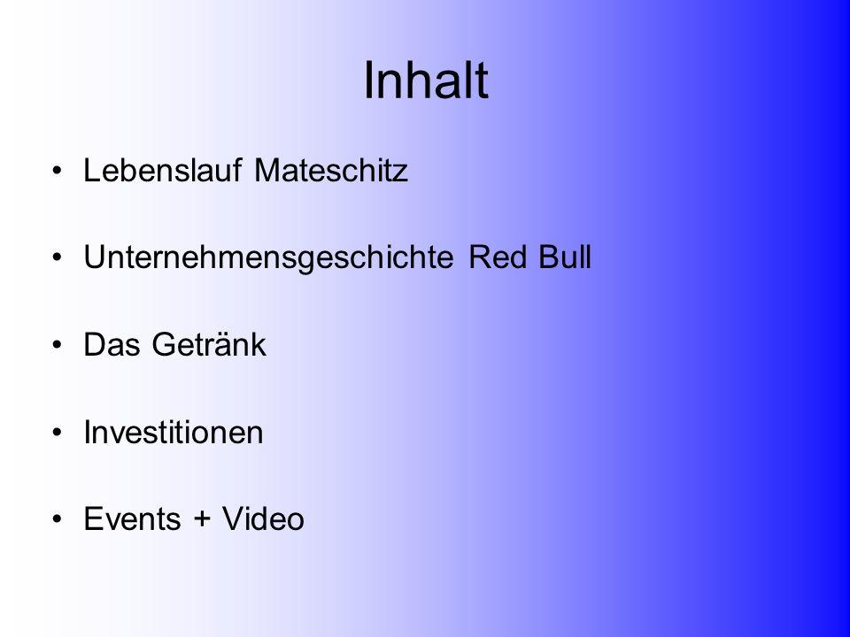 Inhalt Lebenslauf Mateschitz Unternehmensgeschichte Red Bull
