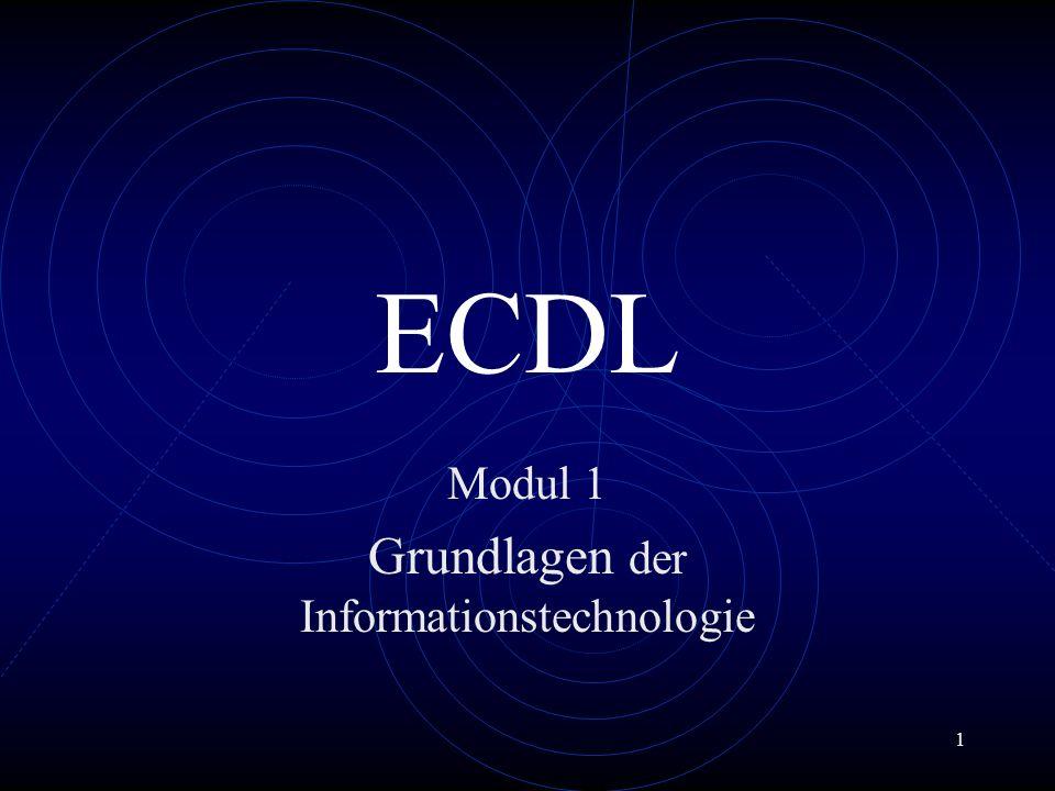 Modul 1 Grundlagen der Informationstechnologie